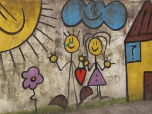 brincar namorar graffiti