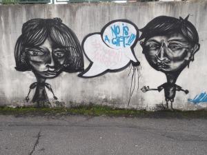 Diálogo no muro