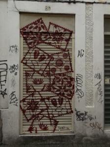 mosaico numa porta