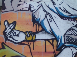 contraído graffiti